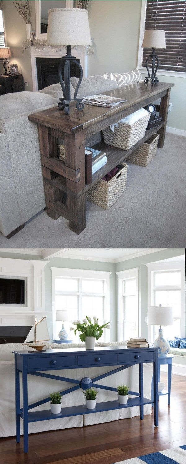 24 Console Tables Behind Couch Decor Ideas My Life Spot Couch Decor Sofa Table Decor Table Behind Couch