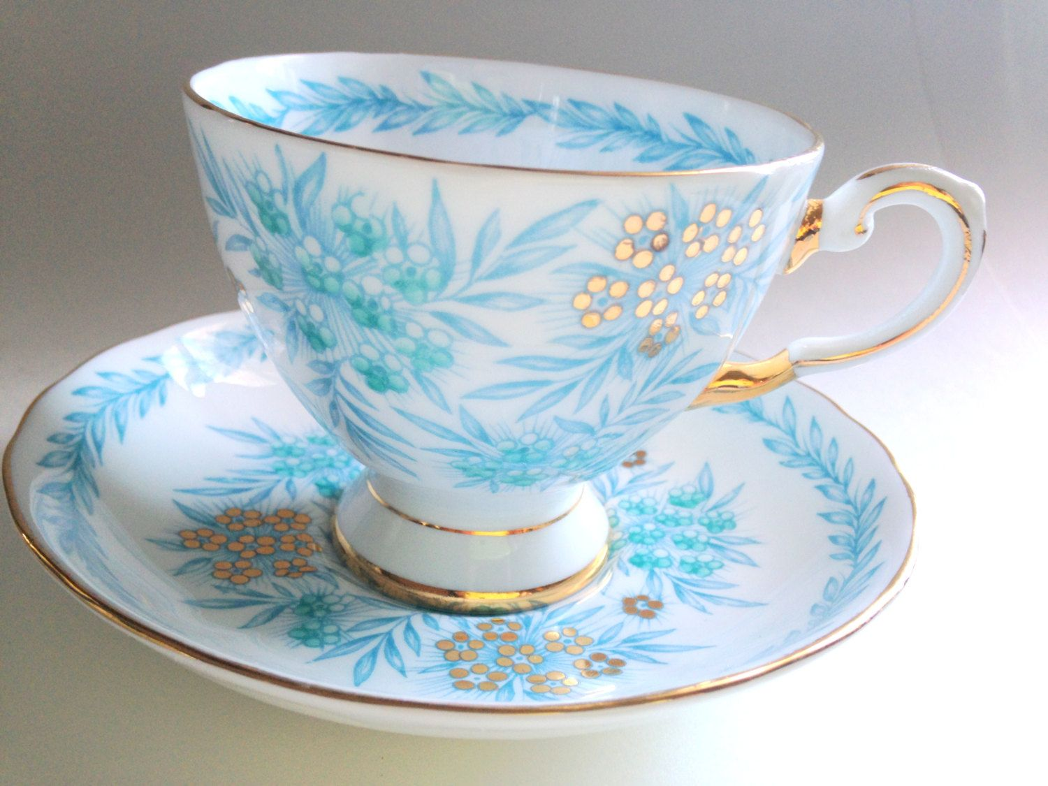 tuscan tea cup and saucer antique tea cups tea set aqua cups english bone china cups tea. Black Bedroom Furniture Sets. Home Design Ideas