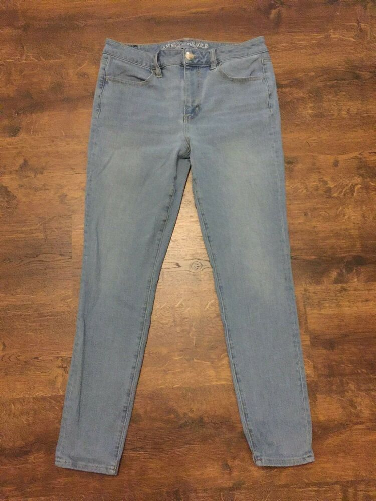 29afc0a63f887 Women's AMERICAN EAGLE 360 Super Stretch Hi-Rise Jegging Blue Jeans Size 10  Reg #fashion #clothing #shoes #accessories #womensclothing #jeans (ebay  link)