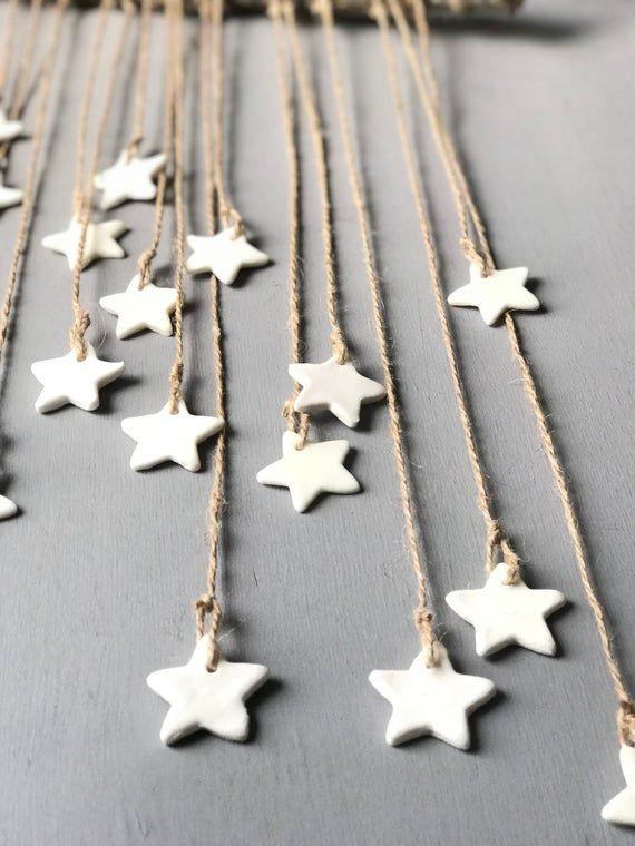Dekoration an der Wand, Stern, Weihnachtsdekoration, Weihnachten, handgefertigt, Gemeinde