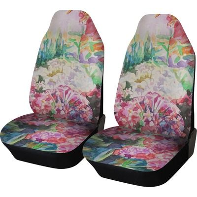 Watercolor Floral Car Seat Covers Set Of Two Ride In Style