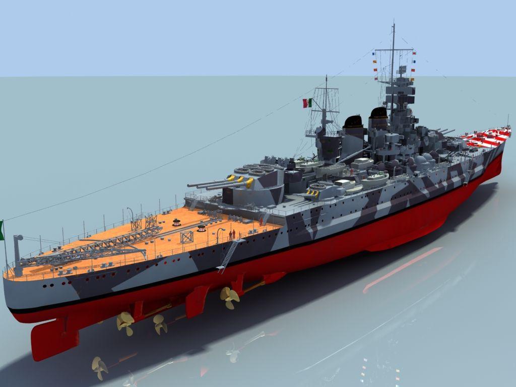 Wwii italy navy battleship roma 1943 plastic model images list - Italian Battleship Roma In 3d Google Image 10 16 New 6c