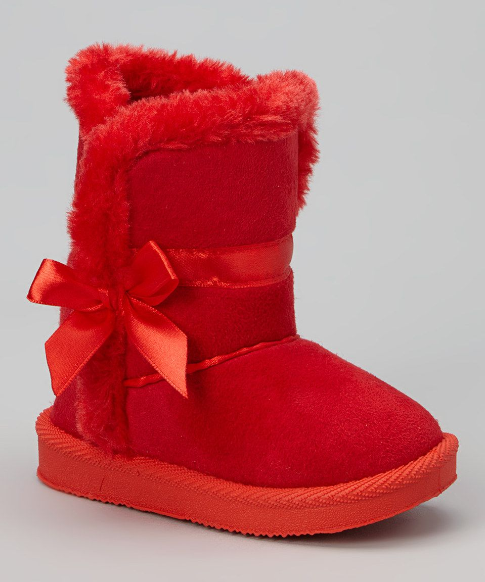 Loving This Amy Red Ribbon Boot On Zulily Zulilyfinds Boots