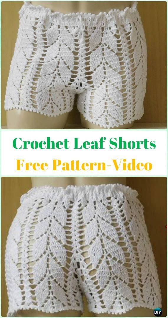 Crochet Summer Shorts Pants Free Patterns Adult Size