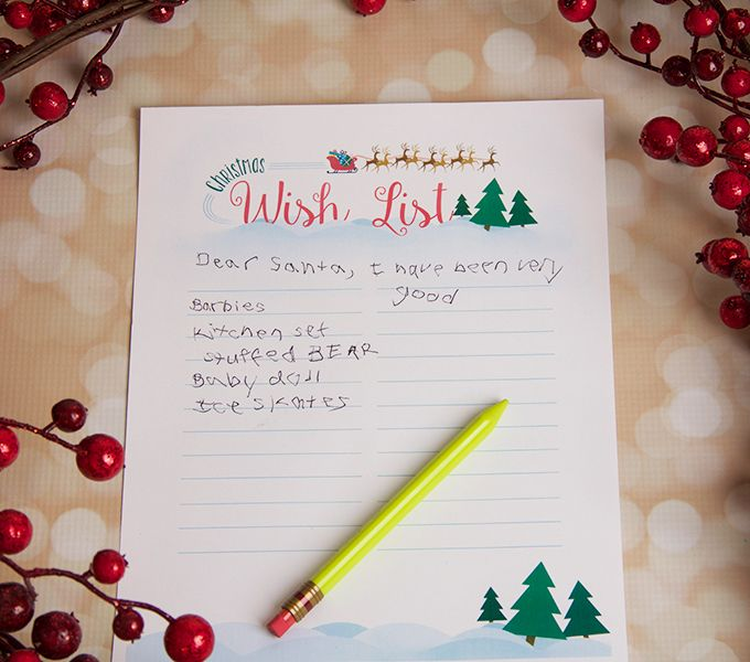 Printable Christmas Wish List - Free printable - christmas wish list paper