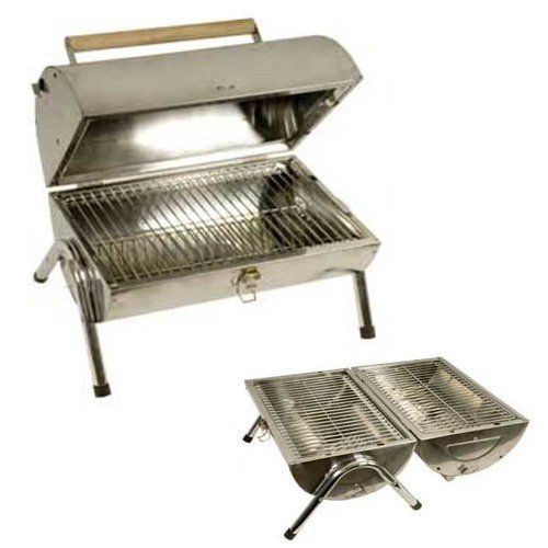 Awesome £24.99 Grants Stainless Steel Barrel Portable Charcoal BBQ Barbecue