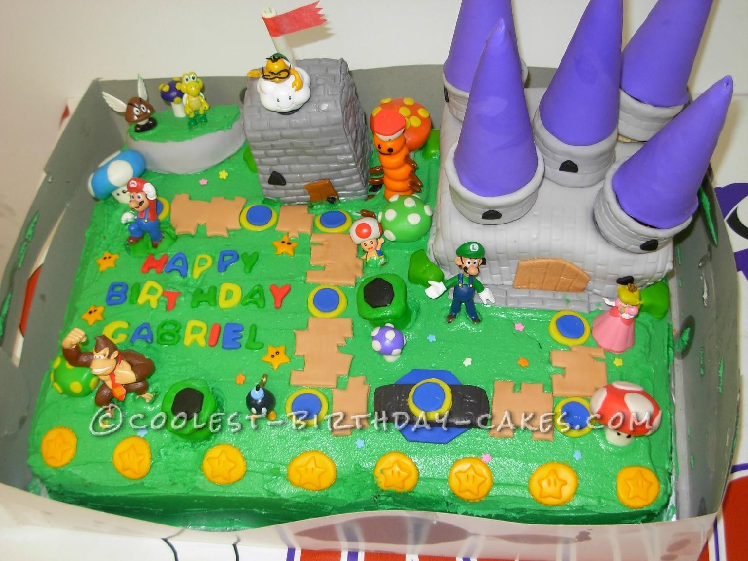 My Sons Super Idea for a Super Mario Bros Birthday Cake Super