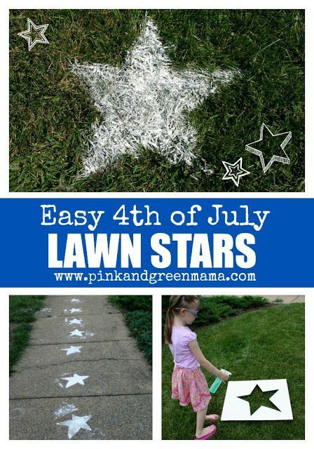 Pink and Green Mama: Fourth of July Fun: Sifted Flour Lawn Stars