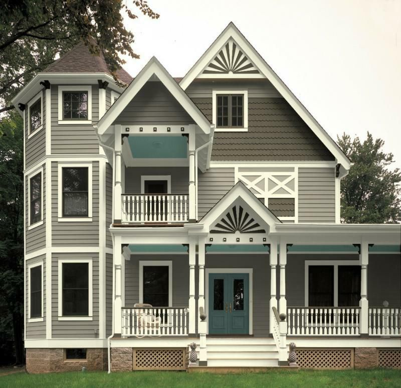 Victorian House Paint Schemes White Gray Essential Baby