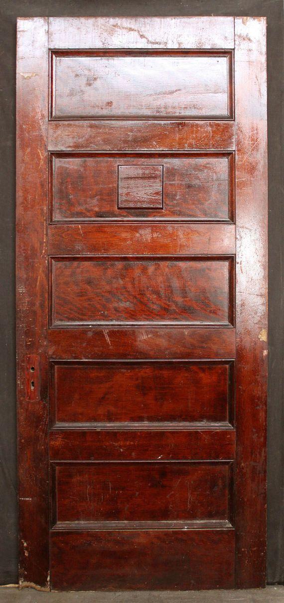 38x88 Antique Vintage Solid Wood Wooden Door By Pennantiquere
