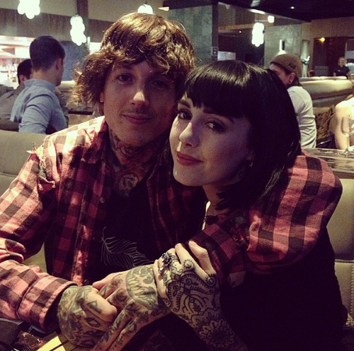Oli sykes kissing his wife picture 424