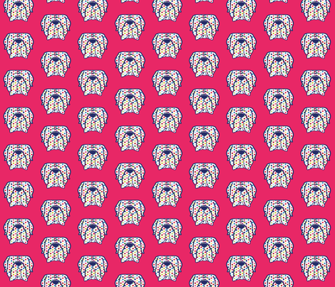 Mastiff polka dots fabric by cheeky~hodgepodge on Spoonflower - custom fabric