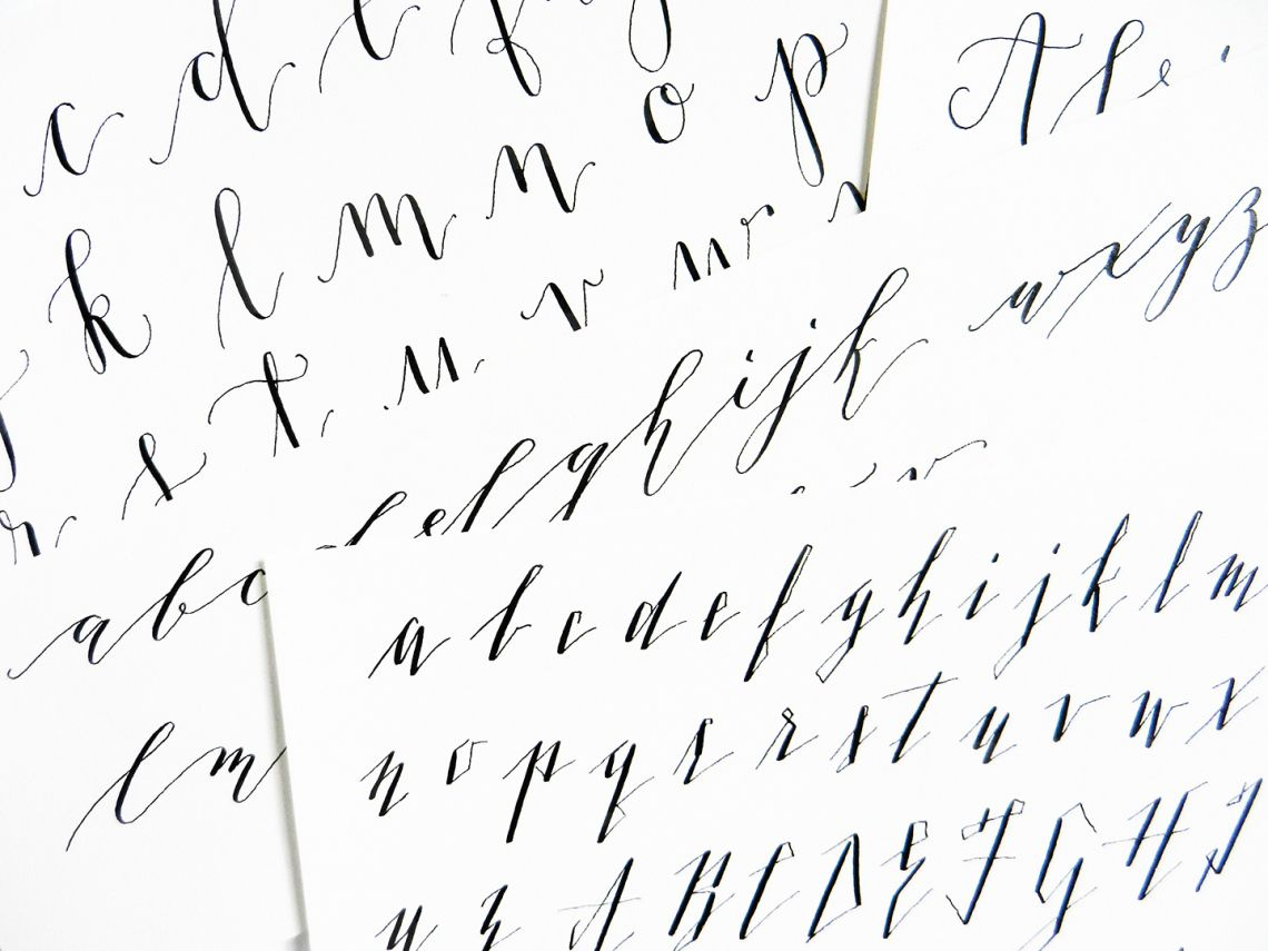 5 Calligraphy Variation Techniques A Surprise Worksheet Flow Hand Lettering