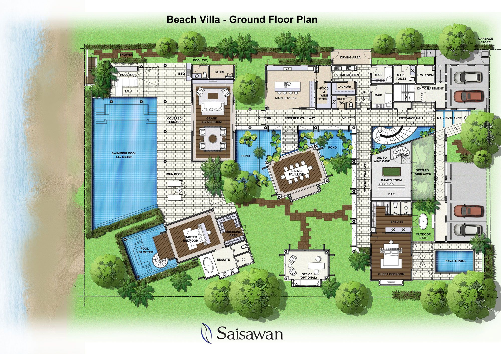 Luxury Home Plans Interior Desig Ideas Saisawan Beach Villas Ground Floor  Plan. Studio Apartment Interior