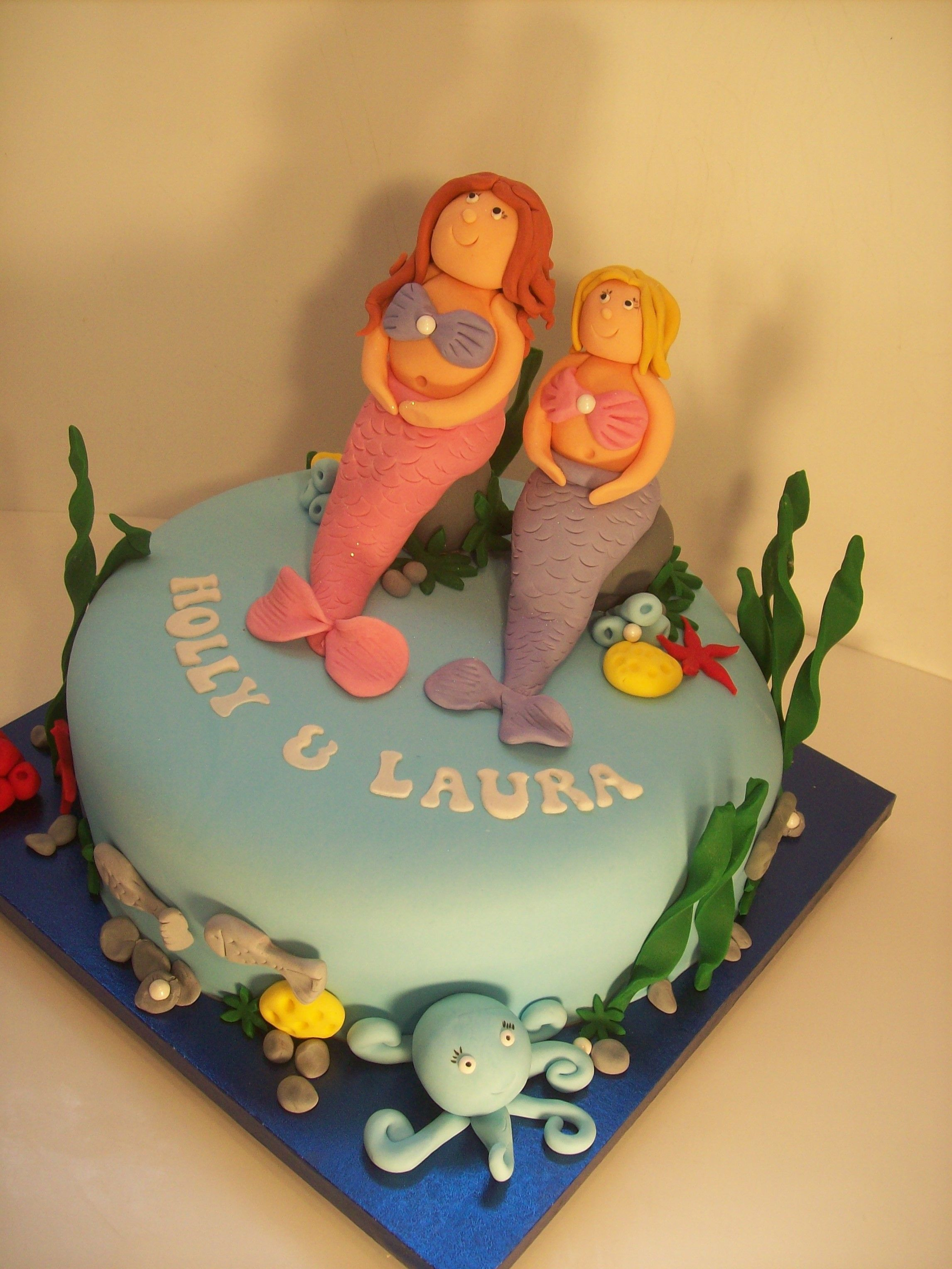 Mermaid Cake Auckland (2014) $195 10 inch Dairy Free Cake Auckland