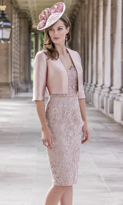 John Charles 26182a Dusty Pink Abiti Glamour Abiti Outfit Per Matrimonio