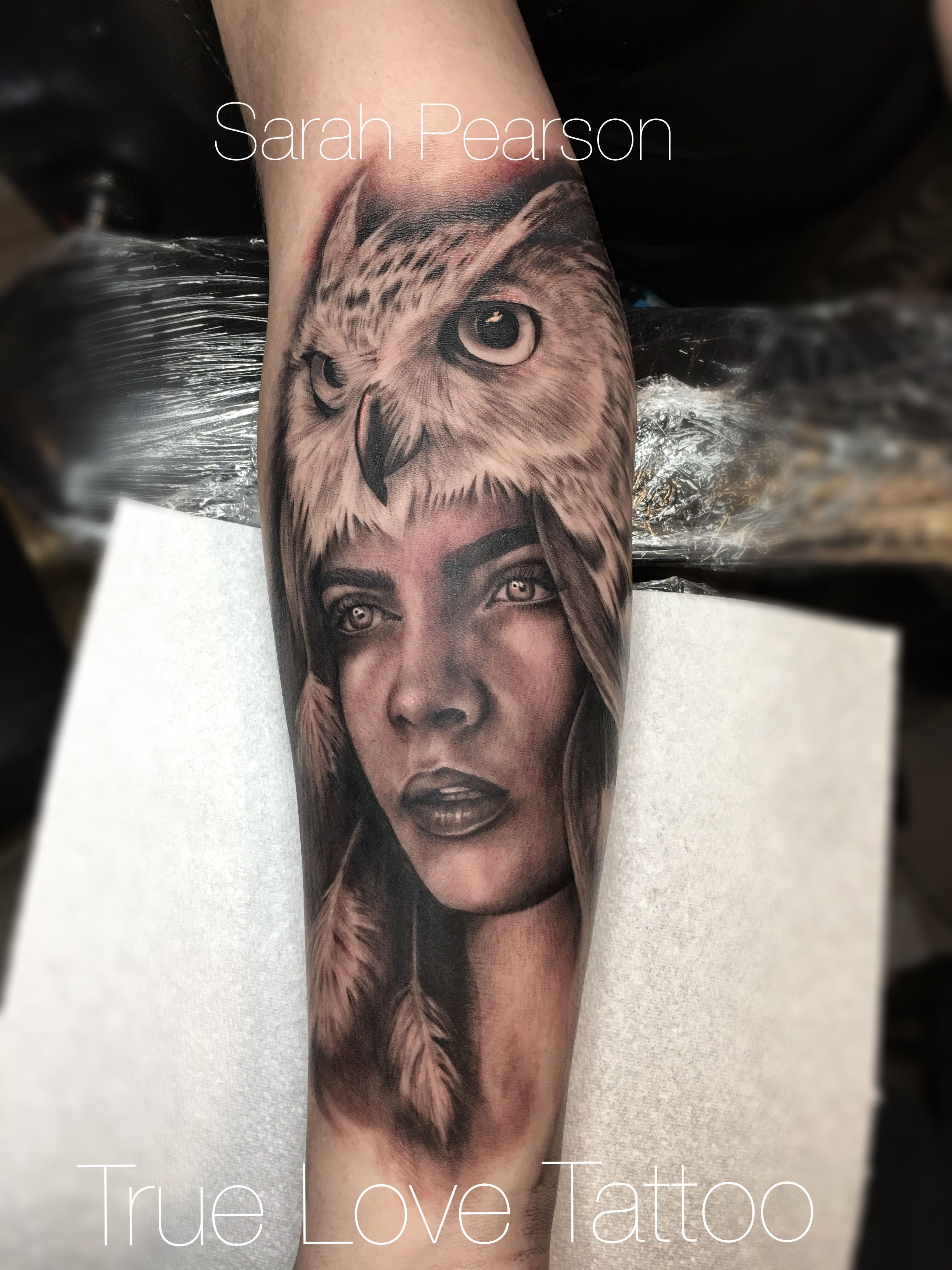 Woman with facial tattoos