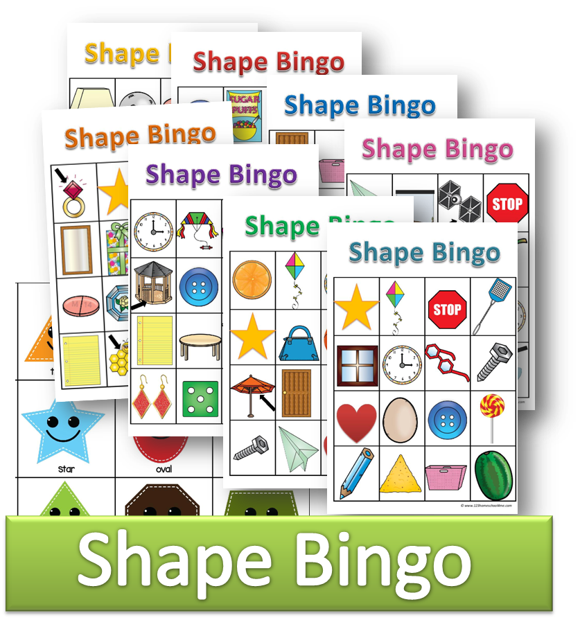 Shapes Bingo Shapes Preschool Kindergarten Games Math Games