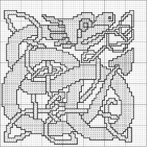 knot dragon 2of 2 | Dragons | Pinterest | Celta, Punto de cruz y Puntos