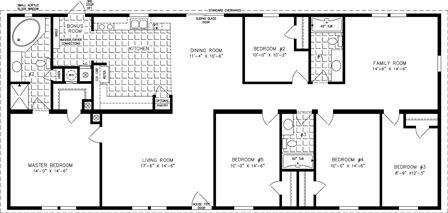 5 Bedroom Manufactured Home TNR 4686W