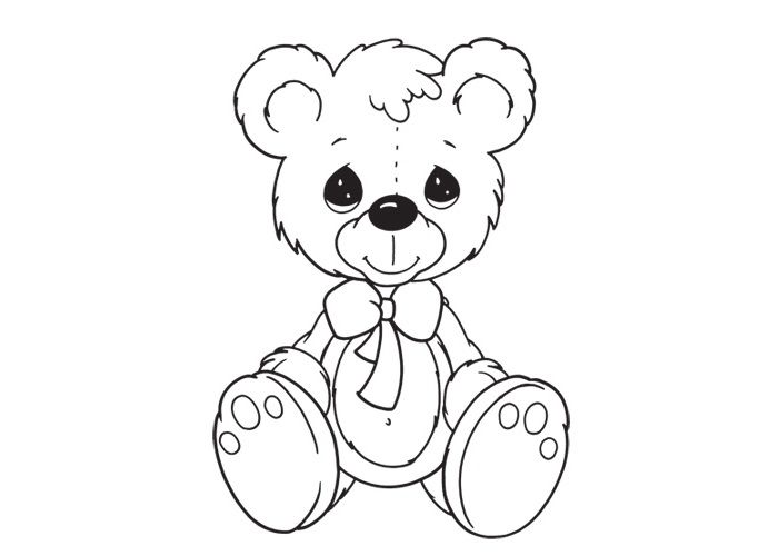 Small Teddy Bear Sitting Relaxed