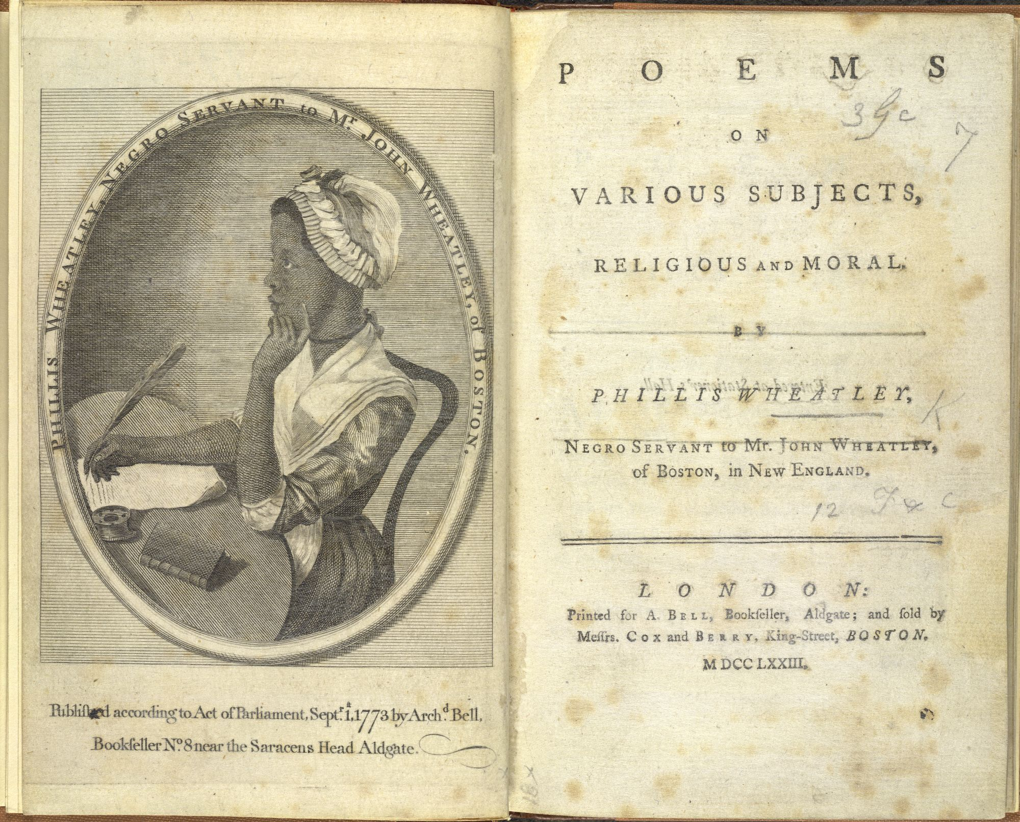 Phillis Wheatley The First Published African American Female Poet
