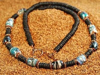 beaded necklace designs with a focal bead volcano bead necklace jewelry design ideas