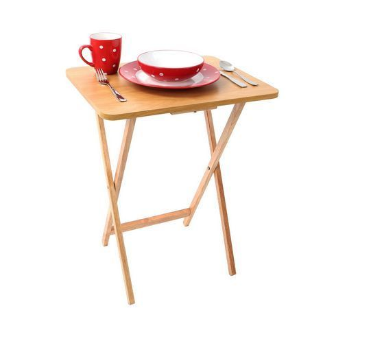 Snack Table Folding Portable Wooden Trays Dining Laptop Food Drink Kitchen Kids