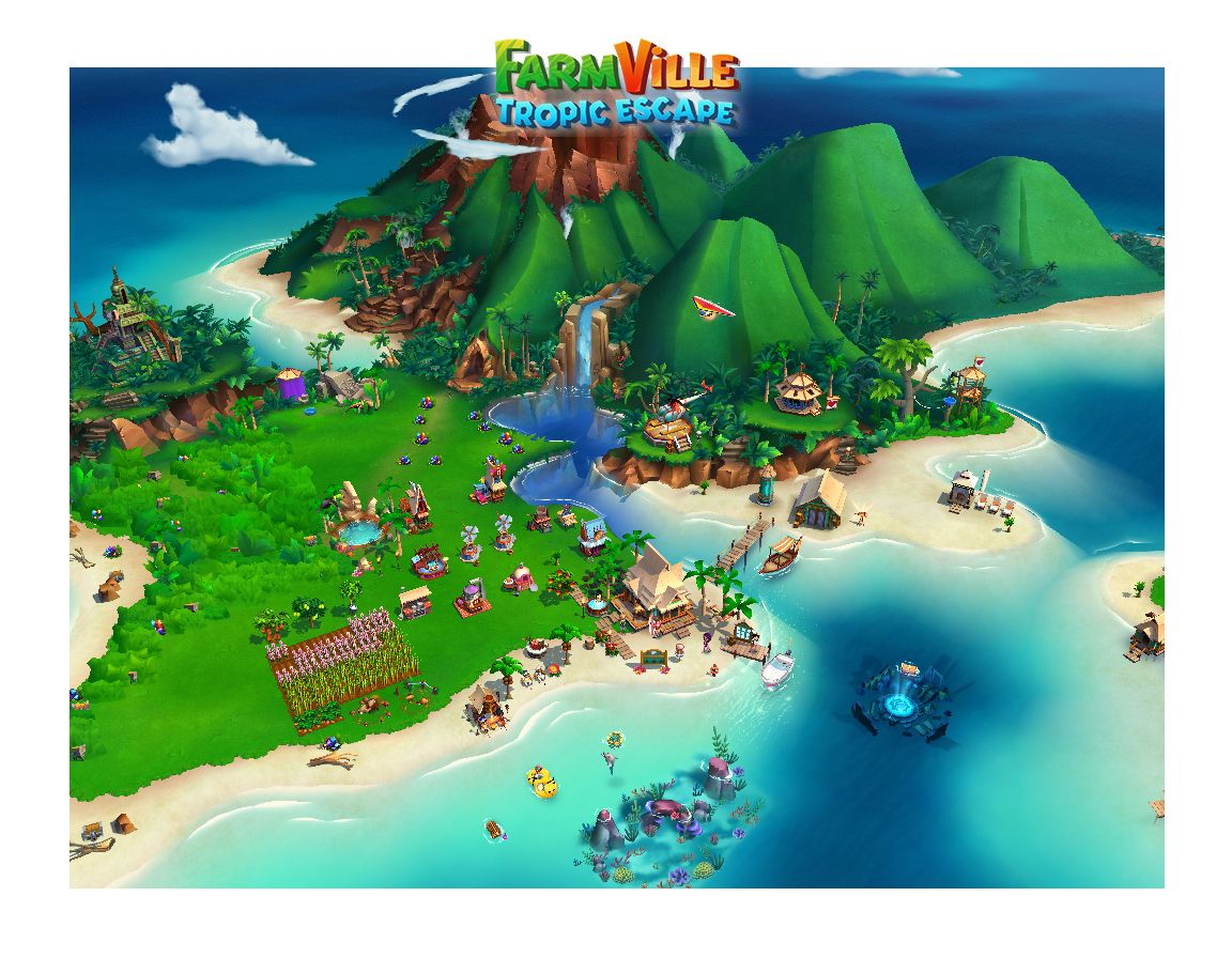Check out my private paradise in FarmVille Tropic Escape