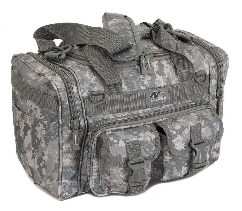 Mens 15 Inch Duffel Duffle Molle Tactical Shoulder Bag With Key Ring Carabiner You