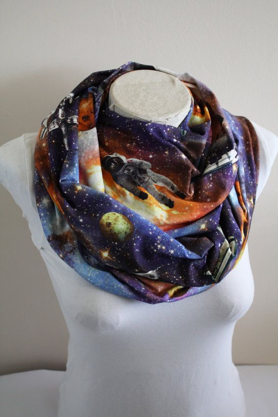 Outer Space Scarf Nebula Infinity Scarf Galaxy Solar System Astronaut Christmas Gift for Women by dreamexpress from dreamexpress on Etsy. Find it now at https://www.etsy.com/listing/490734449/outer-space-scarf-nebula-infinity-scarf?ref=rss!