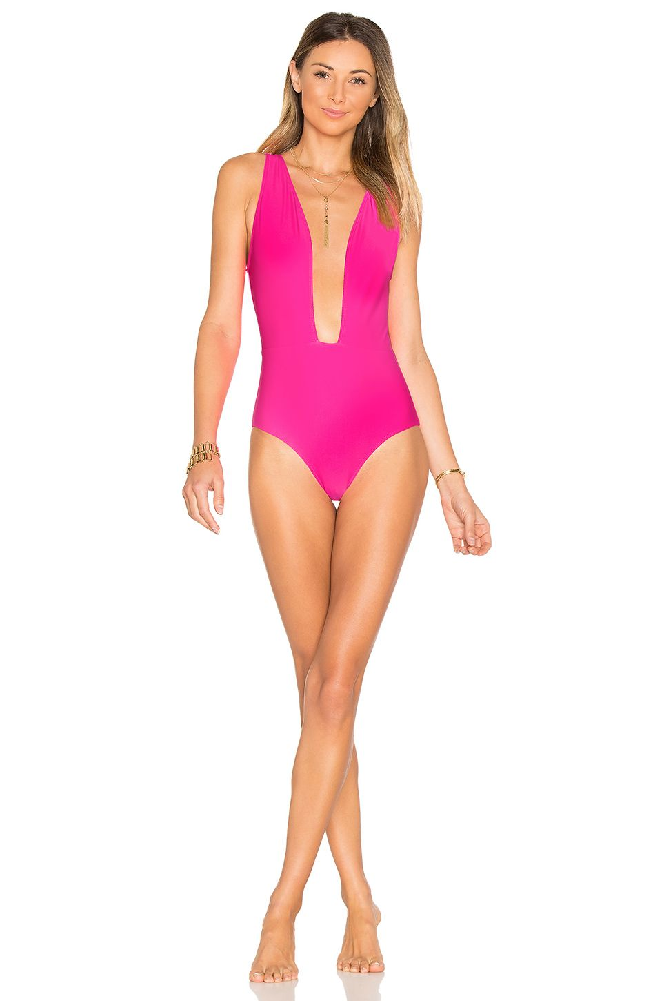 07984834f2 BEACH RIOT x REVOLVE Lex One Piece in Neon Pink | REVOLVE | Swim ...