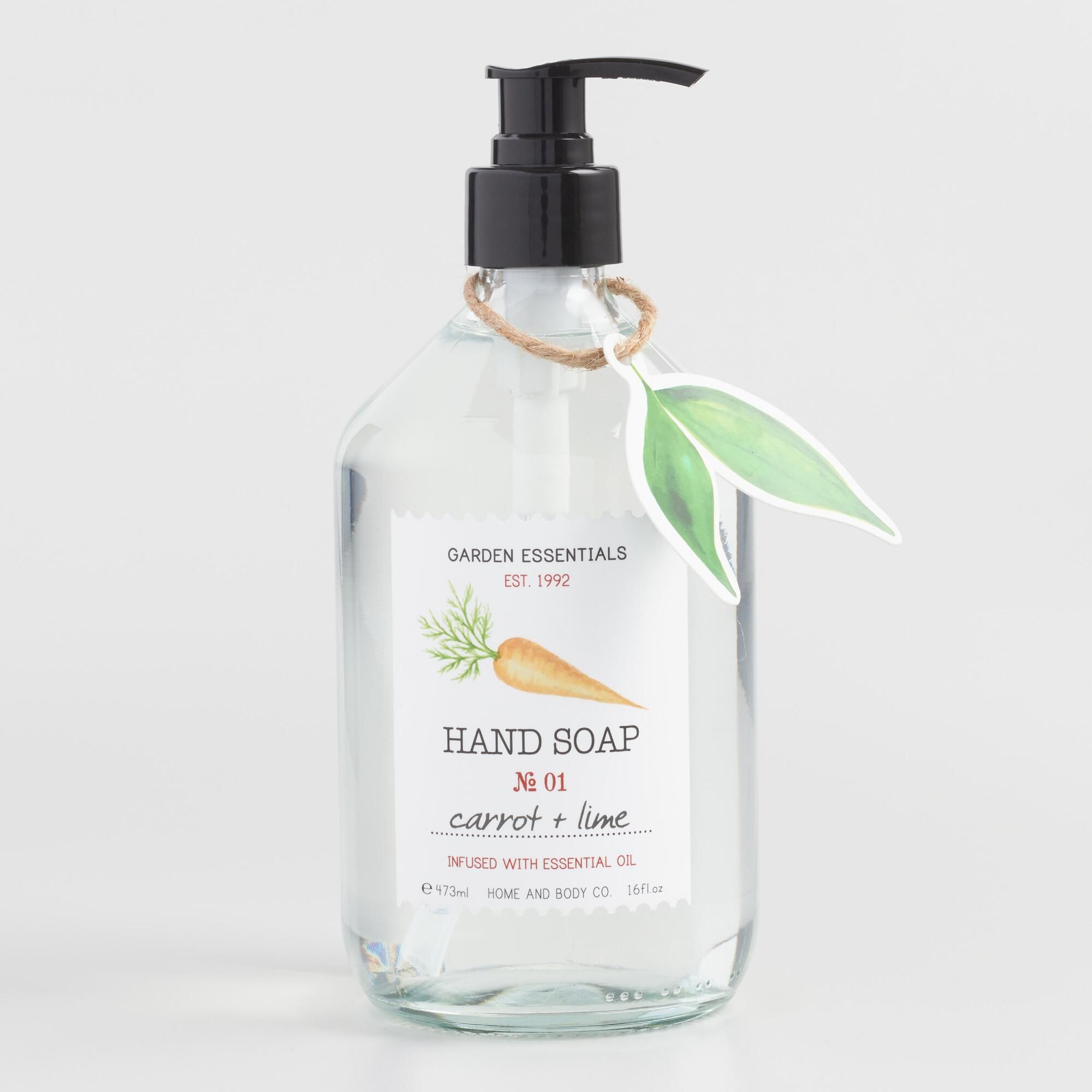 Garden Essentials Carrot And Lime Liquid Hand Soap Liquid Hand Soap Soap