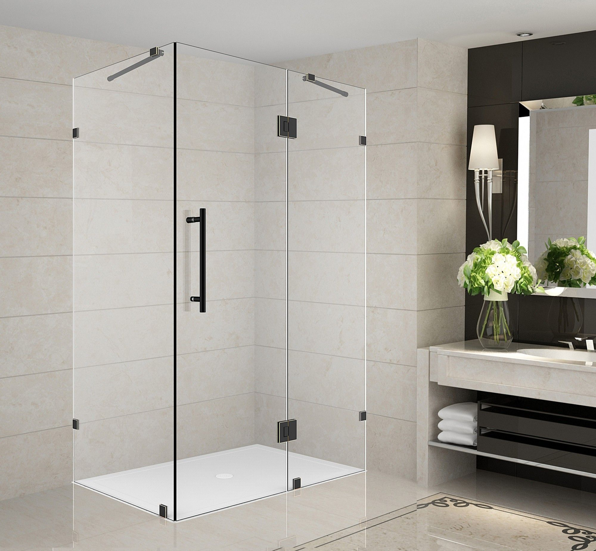 Avalux 36 X 32 72 Frameless Shower Enclosure