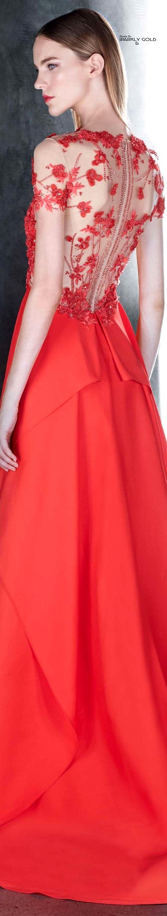 Red ball gown wedding dress  Pamella Roland Resort   THE GOWN BOUTIQUE  Pinterest  Resorts