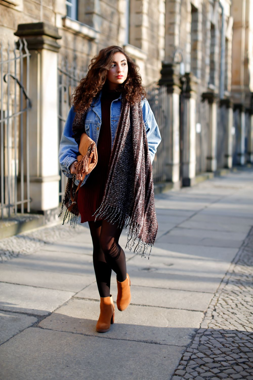 ... vintage look boho schal strickkleid kombinieren girl outfit  frühlingalook spring look fashionblog mode blog streetstyle germany berlin  samieze f19bf4a72