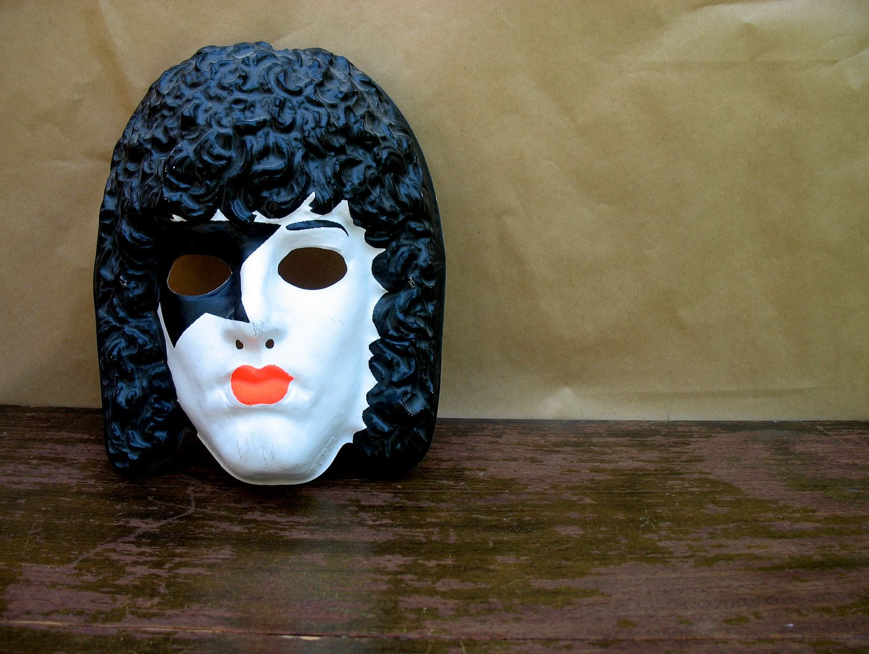 Paul Stanley Vintage Plastic KISS Halloween Mask 1978 - Downstate ...