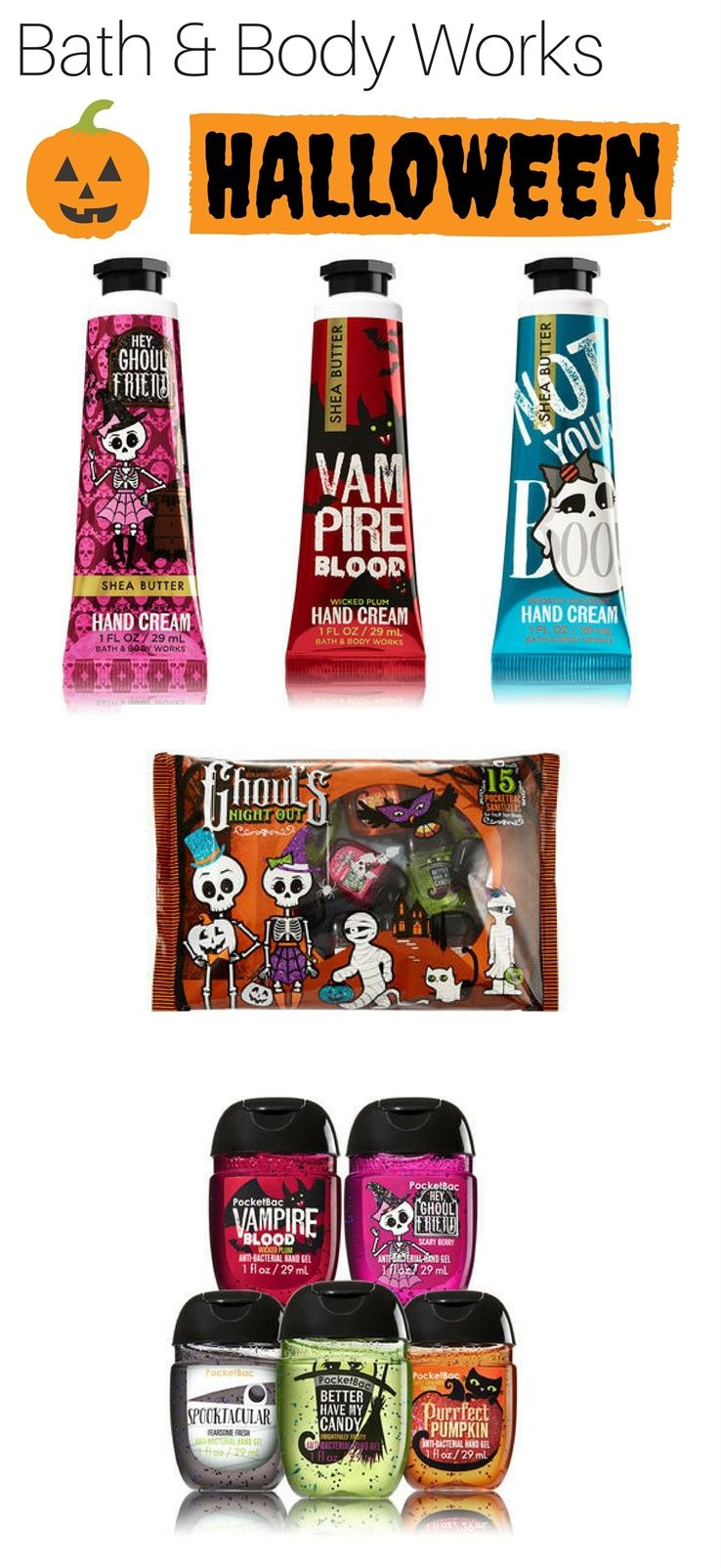 Bath Body Works Hand Creams Pocketbac For Halloween 2017