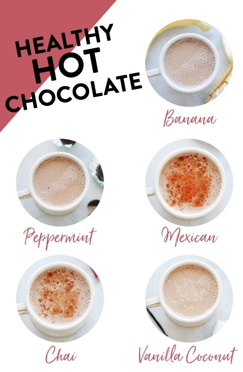 5 Healthy Hot Chocolate Recipes {You Actually Want to Make!} - The Healthy Maven #hotchocolaterecipe