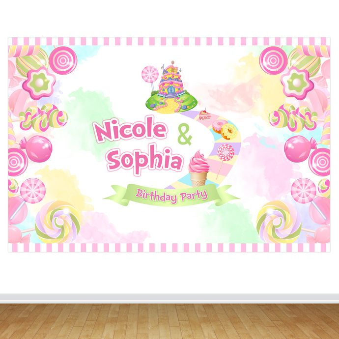 CANDYLAND Backdrop, Candyland Printable Backdrop, Candyland Decorations, Candyland Birthday Party, Sweet Table Decoration, Backdrop, Digital #candylanddecorations