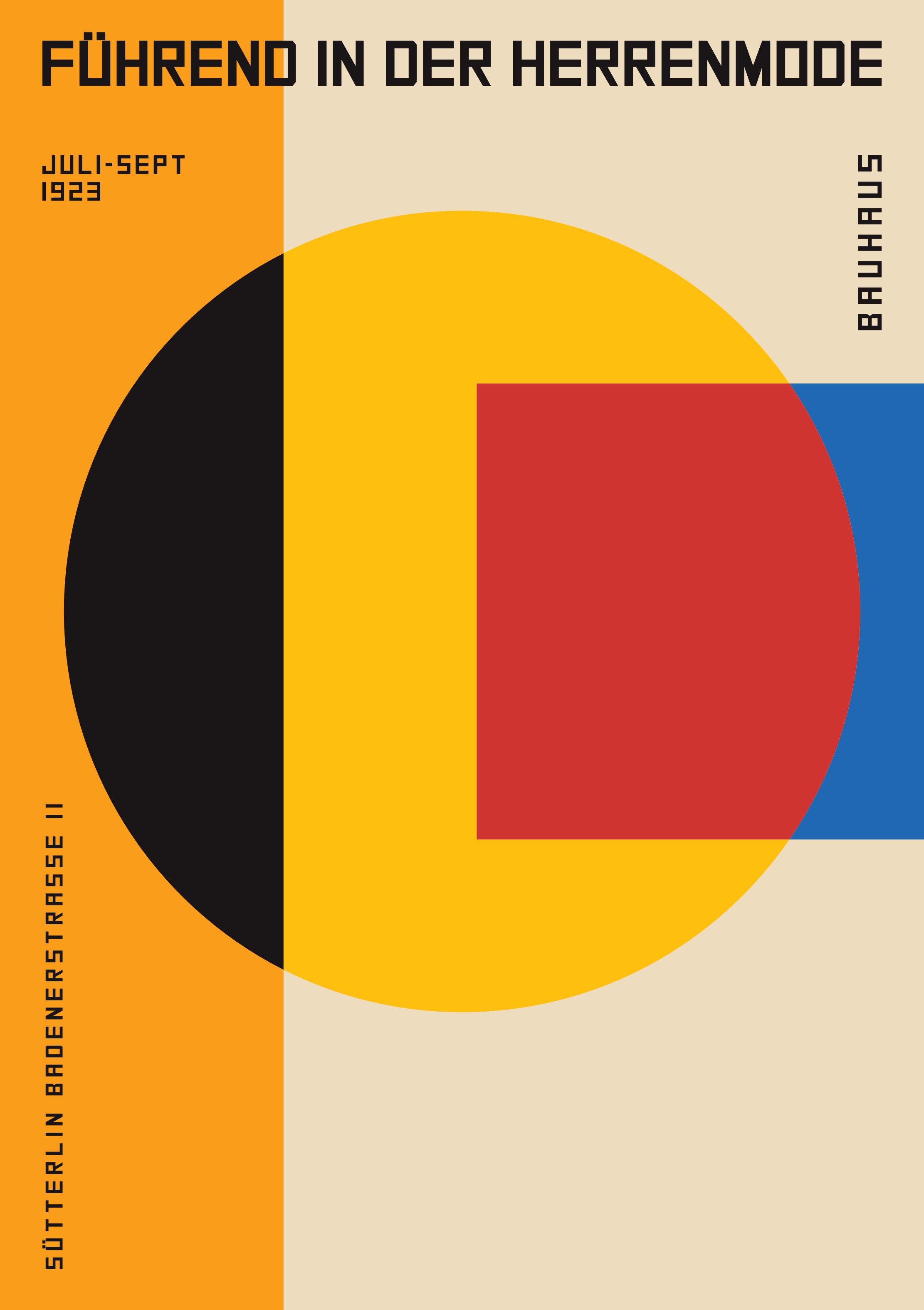 Optimistic design isn't a particular look, it is a movement of residential anarchy. It goes much deeper than using br…   Bauhaus poster design, Bauhaus art, Bauhaus