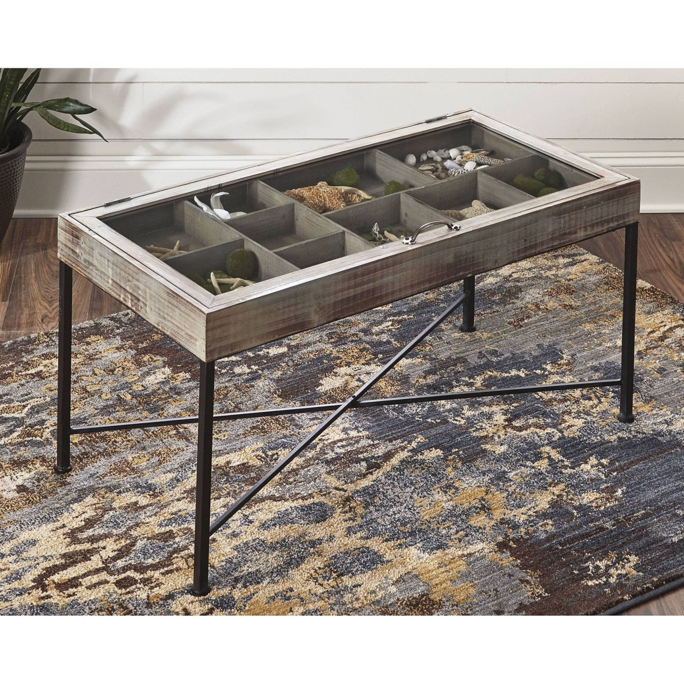 Shellmond Coffee Table With Display Case Antique Gray Black Signature Design By Ashley In 2021 Coffee Table Shadow Box Coffee Table Wood Cocktail Table [ 1400 x 1400 Pixel ]