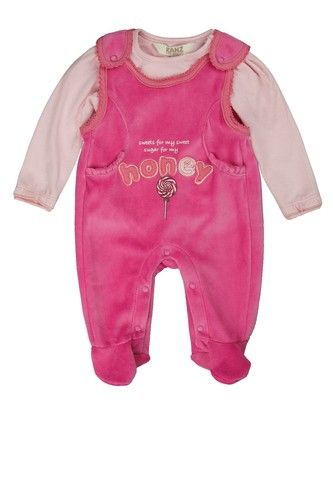 KANZ Kanz Strampler + T-Shirt langärmlig Mädchen Baby pink