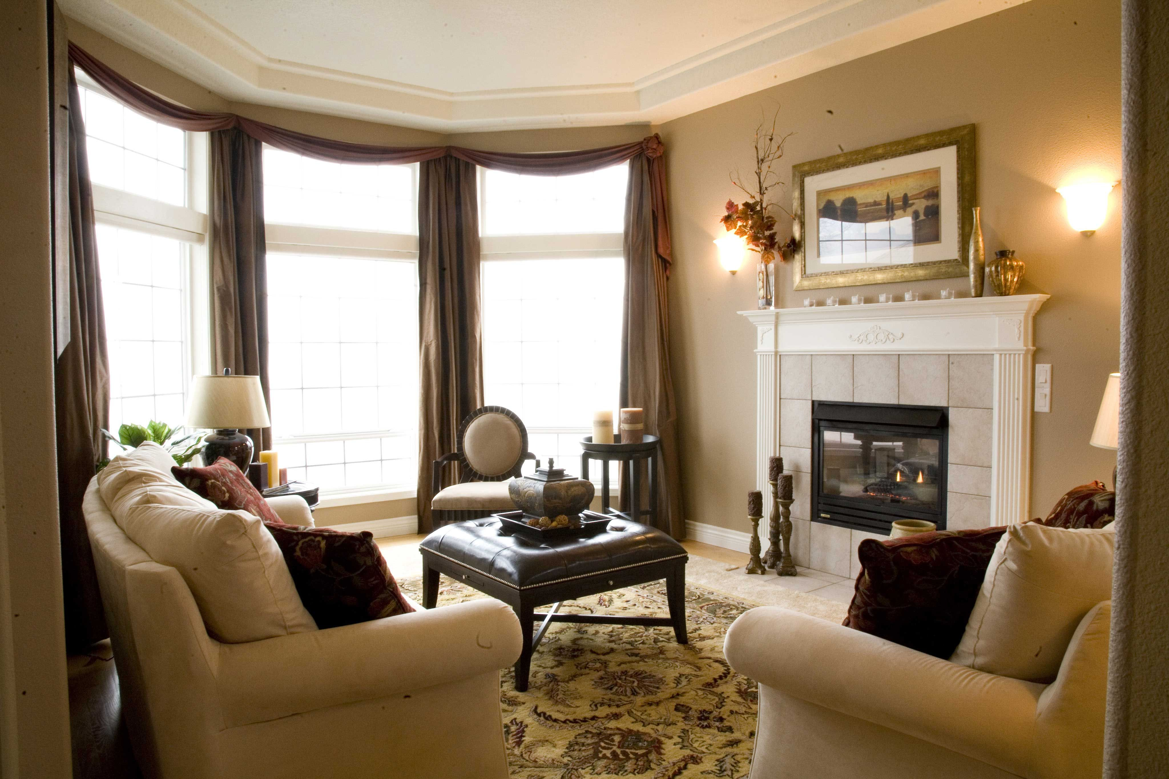 Italian Influenced Living Room Taupe Walls Neutral Furniture - Taupe living room