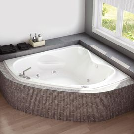 Pin By Vicki Sanders On Master Bath Corner Tub Bathtub Whirlpool Bathtub