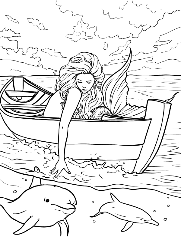 Mermaid Coloring Pages for Adults | Mermaid coloring pages ...