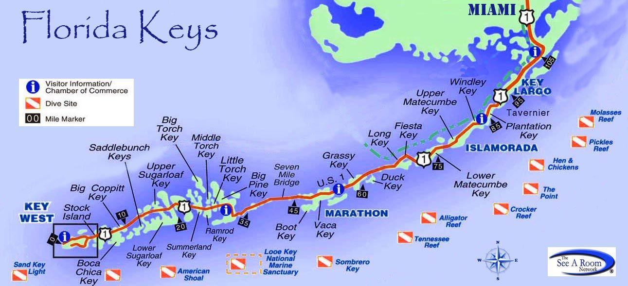 Map Key West Florida.Florida Keys Map Trivago Dream Vacation Florida Keys Florida