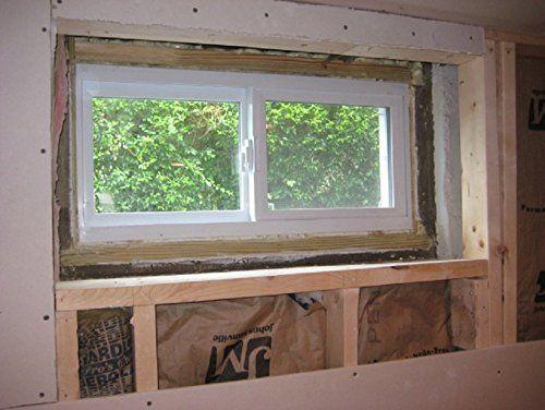 Park Ridge Vbsi3216pr Vinyl Basement Slider Window 32 X 16 White Basement Windows Finishing Basement Basement