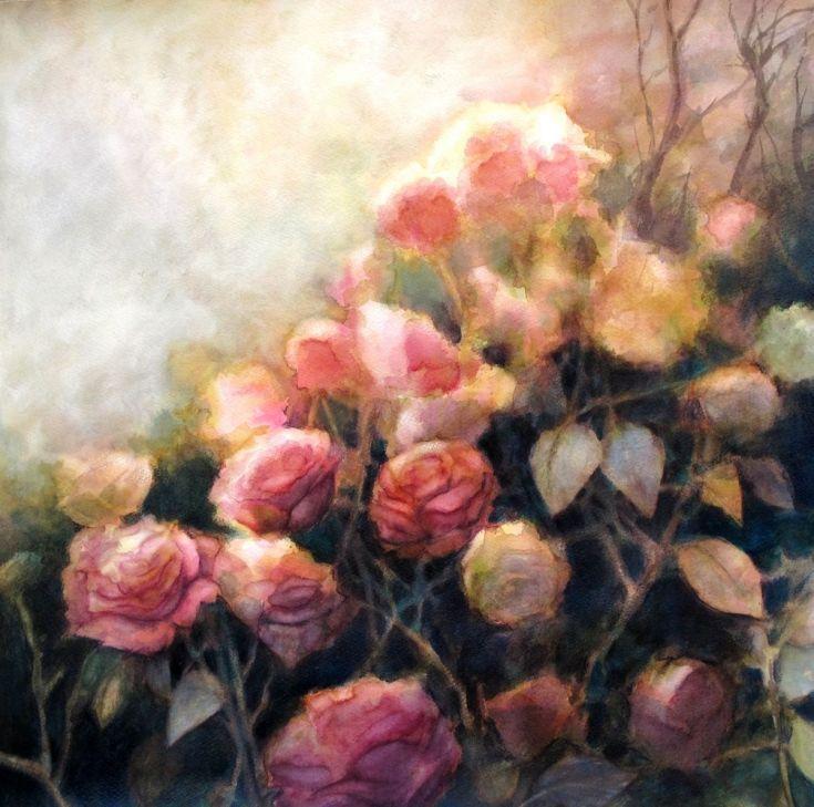 Buy Evening light, Mixed Media painting by Fabienne Monestier on Artfinder…