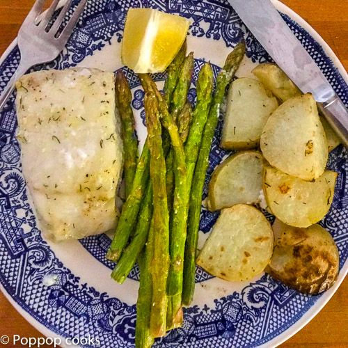 One Sheetpan Codfish Fillet Dinner Gluten Free Paleo